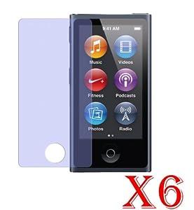 6 X Pellicole Proteggi Schermo LCD per Apple iPod nano 7G generazione (2012) Anti-graffio Proteggi Display / Ultra Clear Screen Protector