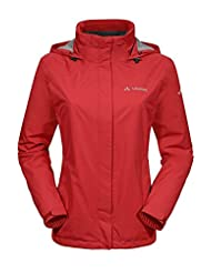 Vaude Escape Bike rain jacket womens Ladies Light red 2015
