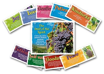 North Star Teacher Resources NS3106 Bulletin Boards- Fruit Of The Spirit- 2 Packs