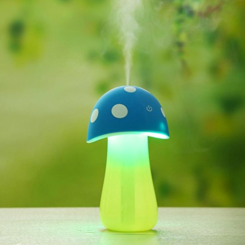 Gillberry Home Aroma LED Humidifier Mushroom Air Diffuser Purifier Atomizer New (Blue)