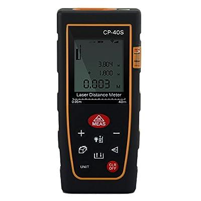Number-One Laser Distance Meter Digital Range Finder Portable Laser Distance Measurer Diastimeter with Bubble Level Tool Measure Area/Volume - 40m /131ft