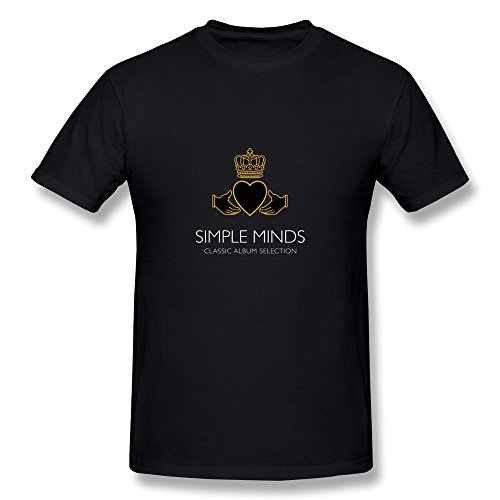 Mokro Men's Simple Minds Band Logo T-Shirt Black