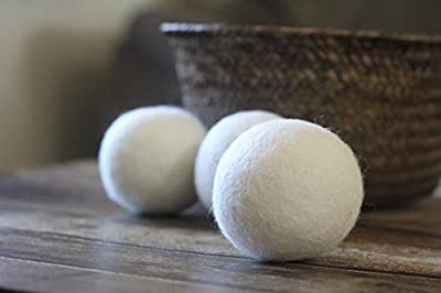 Smart Sheep 3-Pack XL Premium Wool Dryer Balls ~ Reusable, Natural Fabric Softener