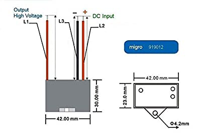 12V NEGATIVE ION GENERATOR High Voltage ionizer 9.5Kv Module