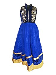 Chokree Blue Color Party Wear Dress/Frock for girl
