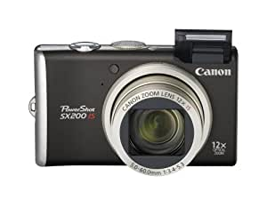 Canon PowerShot SX200IS 12 MP Digital Camera with 12x Wide Angle Optical Image Stabilized Zoom and 3.0-inch LCD (Black)