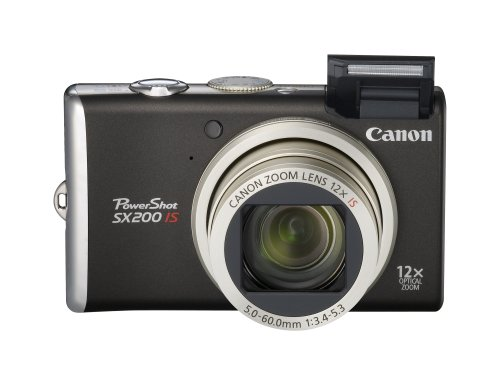 Canon PowerShot SX200 IS is the Best Compact Digital Camera Overall Under $500 with at least 10x Optical Zoom
