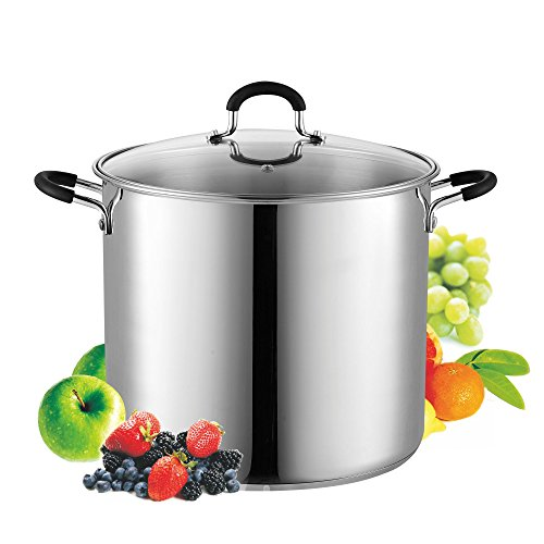 Cook N Home 02441 Stockpot Saucepot with Lid Induction Compatible, 12 quart, Metallic (Tfal 12qt Stock Pot compare prices)