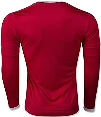 adidas Manchester United Long Sleeve Home Soccer Jersey 2015/16 (Red)