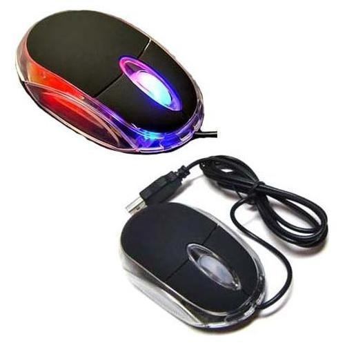Generic Black 3-Button 3D USB 800 Dpi Optical Scroll Mice Mouse w/ Blue & Red LEDs For Notebook Laptop Desktop