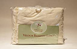 TL Care Velour Natural Organic Cotton Fitted Bassinet Sheet