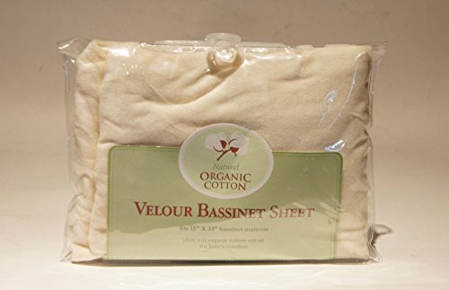 TL Care Velour Natural Organic Cotton Fitted Bassinet Sheet - 1