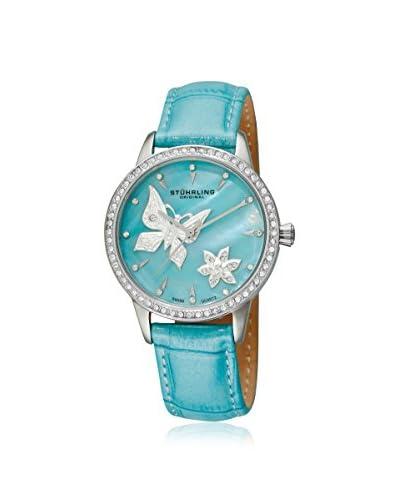 Stuhrling Women's 518.1115C8 Verona Mariposa Blue Leather Watch
