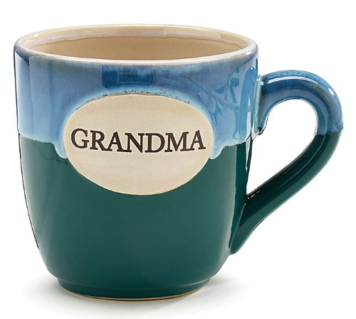1 X Grandma Teal Porcelain Coffee Tea Mug Cup 16oz Gift Box