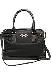 Ferragamo Women's Nylon/Leather Shoulder/Tote Bag