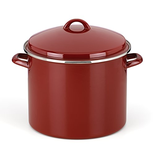 The Mexican Kitchen by Rick Bayless 16 quart Tamale Steamer/Stock Pot, Large, Red (16 Qt Cast Iron Pot compare prices)