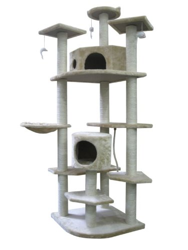 Cat Tree Condo With Scratching Post - 80 Inches