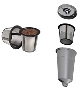 Generic Replacement Coffee Filter Set for Keurig My K-Cup - 3 pieces - Fits B30 B31 B40 B50 B60 B70