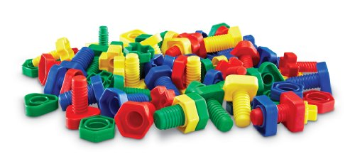 Learning Resources Attribute Nuts& Bolts, Set of 64