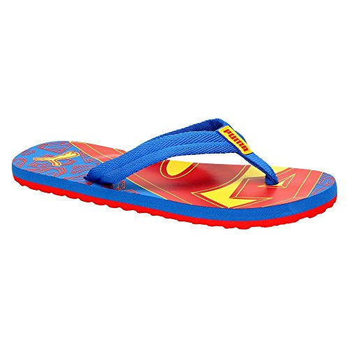 Puma Epic Flip Superman Jr, Sandali bambini Blu Strong Blue-Red-Buttercup, Blu (Strong Blue-Red-Buttercup), 34