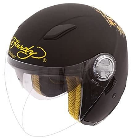 EDHARDY - Casque Jet Ed Hardy Tiger Noir Mat XS