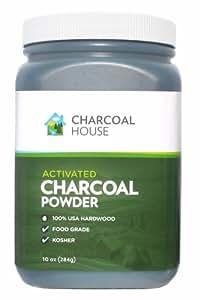 Amazon com hardwood activated charcoal powder food grade 10 oz