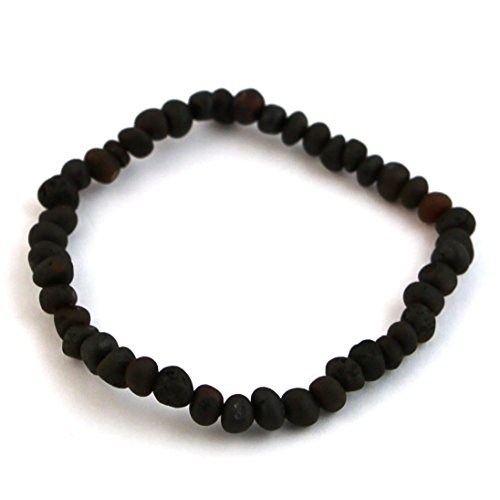 "Hazelaid (TM) 7"" Baltic Amber Coffee Bracelet (on elastic)"