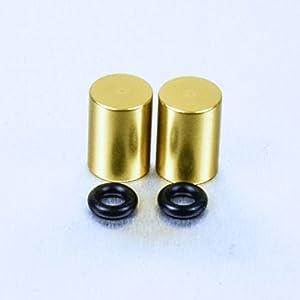 Aluminium Bleed Nipple Cover 7mm Pair Gold