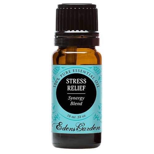 Edens Garden Stress Relief Synergy Blend Essential Oil with Bergamot, Patchouli, Blood Orange, Ylang Ylang & Grapefruit, 10ml