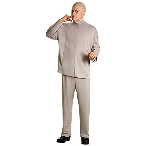 GSG Dr Evil Costume Adult Austin Powers Funny 60s Halloween Fancy Dress (Austin Powers Girl Costume)