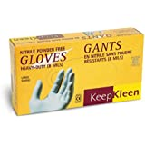 Superior RD8NPF KeepKleen Nitrile Glove, Work, Disposable, Powder Free, 8 mil Thickness, Large, Blue