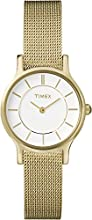 Timex Classic Women's Quartz Watch with White Dial Analogue Display and Stainless Steel Bracelet - T2P168PF