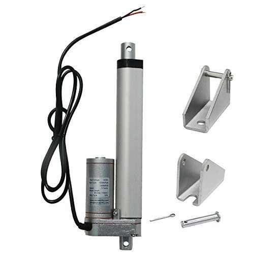 ECO-WORTHY 6 Inch 12V Linear Motor Actuator Heavy Duty 330lbs Solar Tracker Multi-function for Electroic ,Medical,auto Use