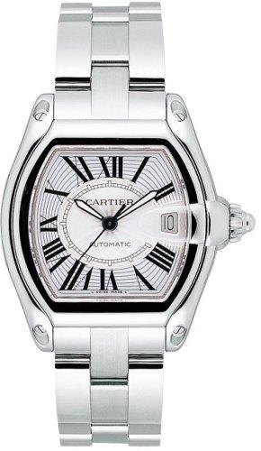 CARTIER ROADSTER MENS STEEL WATCH W62025V3 Wrist Watch (Wristwatch)