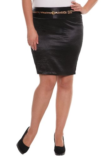 Torrid Plus Size Z. Cavaricci Couture - Black Hammered Satin Pencil Skirt
