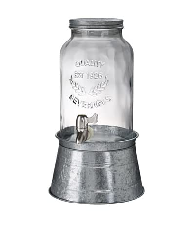 Oasis Beverage Server-1.5 Gallons on Galvanized Metal Stand