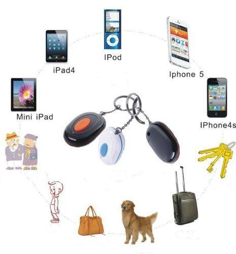 Elementdigital(Tm) Newest Vtag Anti-Lost Locator Key Finder Bluetooth 4.0 Wireless Device/Burglar Safety Alarm Device For Apple Iphone 4S / Iphone 5 / Ipad 3 / Ipad 4 / Ipad Mini/ Ipod Touch 5 (White+Black)