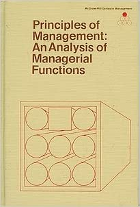 Essentials Of Management By Harold Koontz Cyril O Donnell