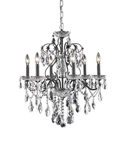 Crystal Lighting St. Francis 6-Light Chandelier, Dark Bronze