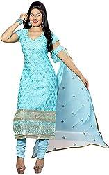 RADHE STUDIO Women's Cotton Un-Stitched Salwar Suit (RSOM YOUR 16004, Blue)