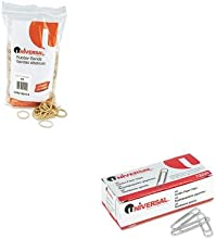 KITUNV00114UNV72220 - Value Kit - Universal Rubber Bands UNV00114 and Universal Smooth Paper Clips U