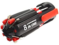 Magnifico 8 In 1 Multi Screwdriver With LED Portable Torch
