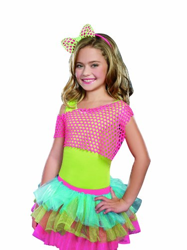 SugarSugar Mixin' It Up Fishnet Crop Top, Hot Pink, Small/Medium