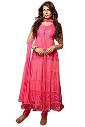 Divyaemporio Women'S Pink Faux Georgette Salwar Suits Dress Material
