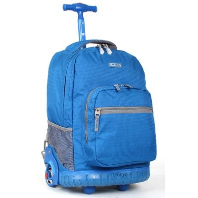 J World Sunrise Rolling Backpack (Blue)