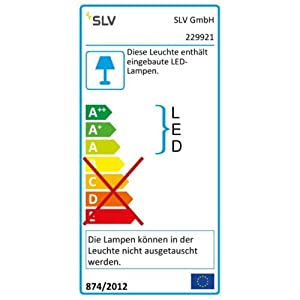 SLV 229921 TERANG wall and ceiling light, oval, white, 8W LED, 3000K, Aluminium, white, , , from SLV