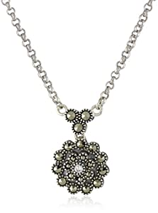 """Judith Jack """"Starlight"""" Sterling Silver and Marcasite Mini Pendant Necklace"""