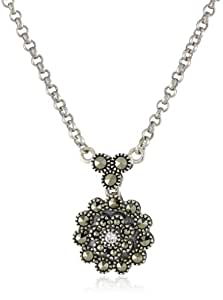"Judith Jack ""Starlight"" Sterling Silver and Marcasite Mini Pendant Necklace"