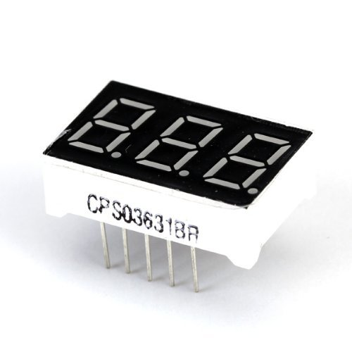 Sodial(R) 0.36Inch 3 Digit Red Led Display Common Anode