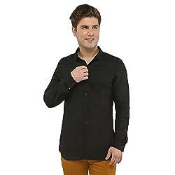 Attila Men's Casual Shirt (33062000BL_Black_38)